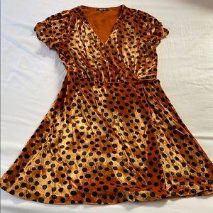 Madewell Velvet Wrap Leopard Dress